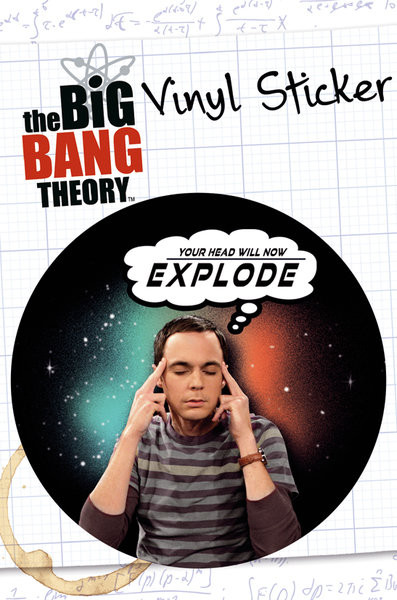 BIG BANG THEORY - explode  - adesivi in vinile