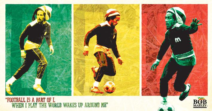 BOB MARLEY - football - adesivi in vinile