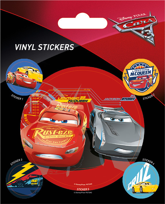 Cars 3 - Racing - adesivi in vinile