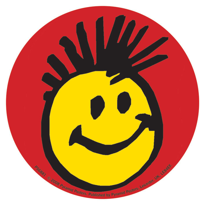 FACE - smiley mohican - adesivi in vinile