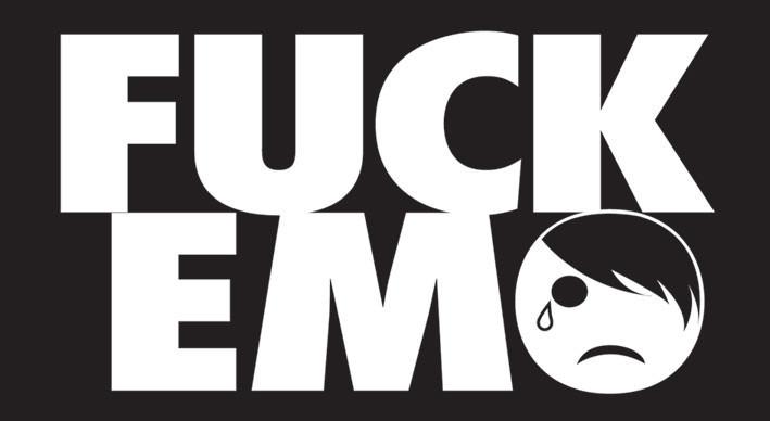 FUCK EMO - adesivi in vinile
