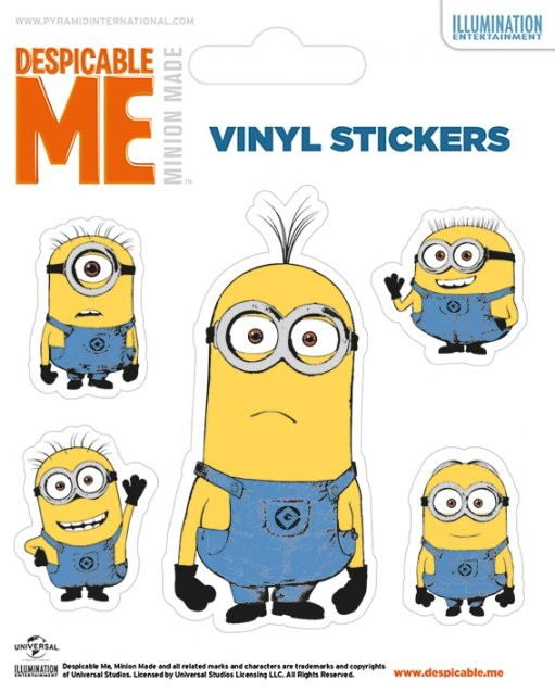 I Minion (Cattivissimo me) - Illustrated Minion - adesivi in vinile