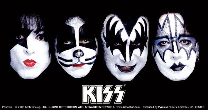 KISS - faces - adesivi in vinile