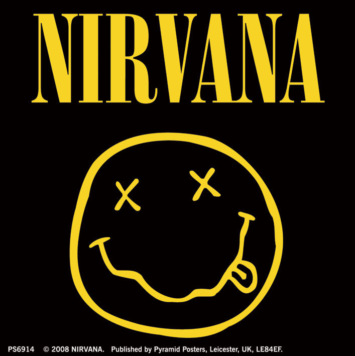 NIRVANA - smiley logo - adesivi in vinile