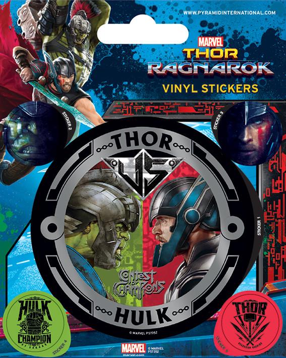 Thor Ragnarok - Thor vs Hulk - adesivi in vinile