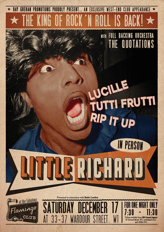 Poster Little Richard Flamingo - Club Wardour St
