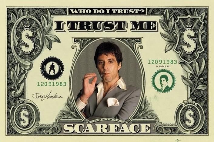 Poster SCARFACE - dollar