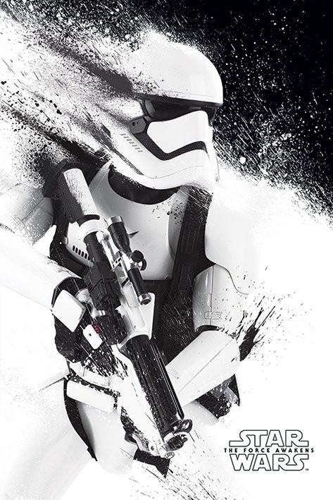 Poster Star Wars, épisode VII : Le Réveil de la Force - Stormtrooper Paint