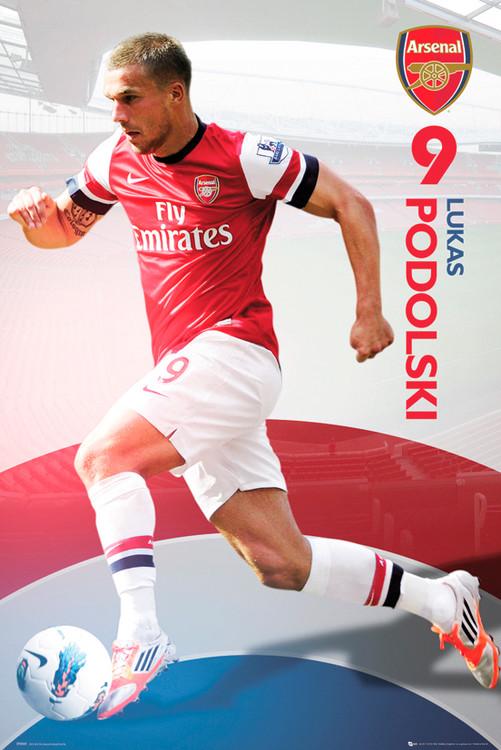 Arsenal - Podolski 12/13 Poster