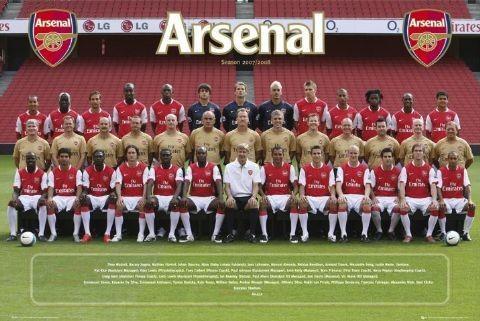 Arsenal - Team photo 07/08 Affiche