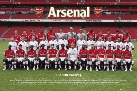 Arsenal - Team photo 08/09 Affiche