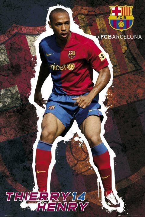 Barcelona - Henry 08/09 Affiche