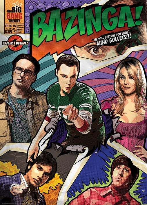 BIG BANG THEORY - comic bazinga Poster
