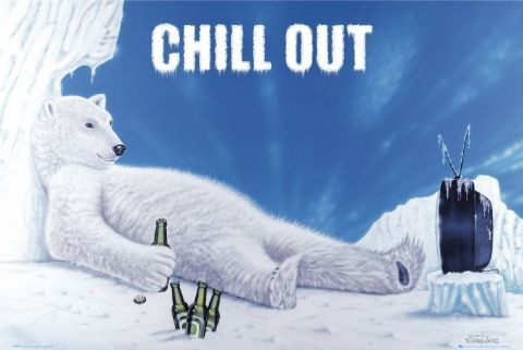 Chill out - polar bear Poster