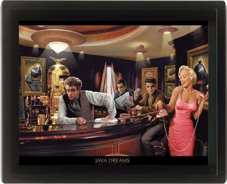 CHRIS CONSANI - java dreams Poster en 3D encadré