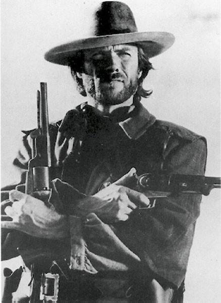 Clint Eastwood (B&W) Affiche