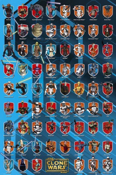 CLONE WARS - personajes Affiche