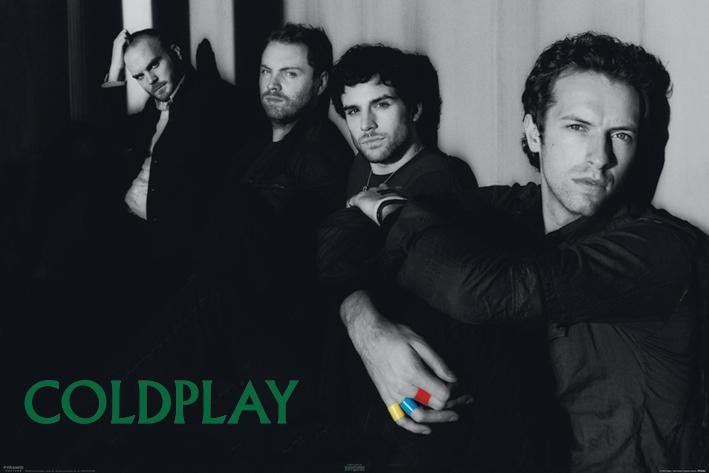 COLDPLAY - group Poster