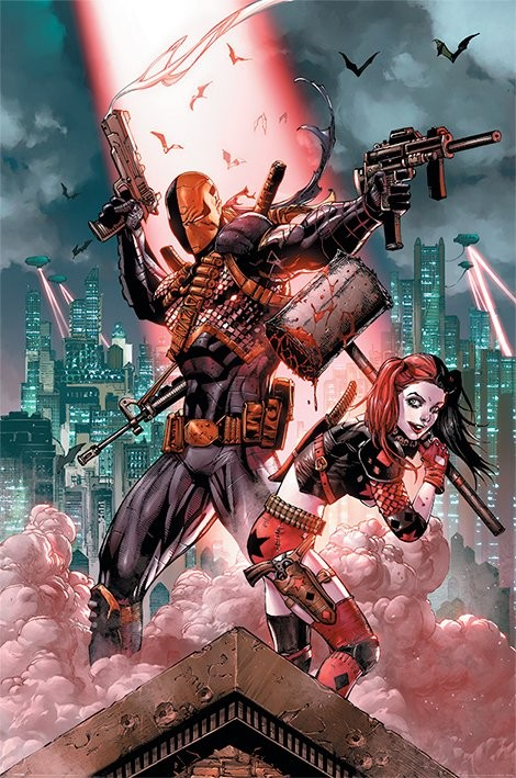 Dc Comics - Deathstroke & Harley Quinn Poster