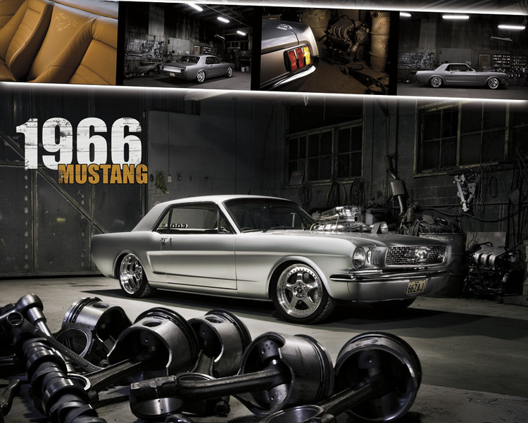 Ford Shelby - mustang 1966  Affiche