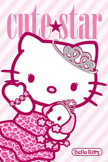 HELLO KITTY - cute star Poster