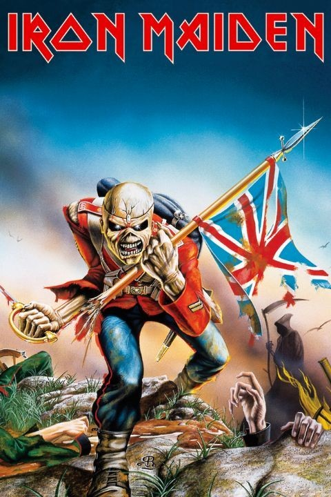 IRON MAIDEN - trooper Affiche