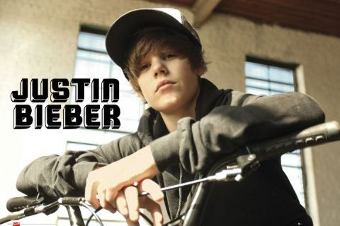 Justin Bieber - bike Poster