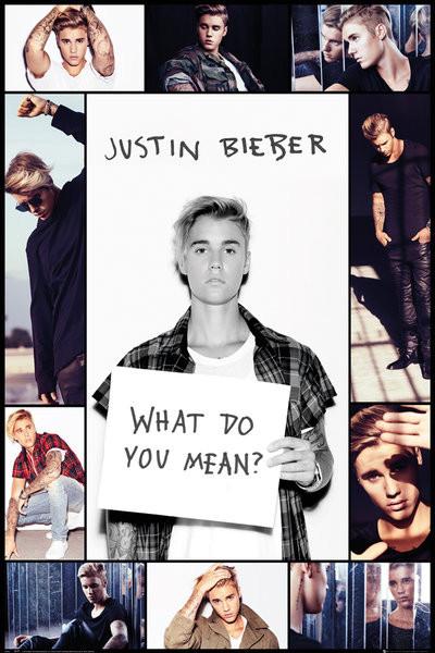 Justin Bieber Grid Poster Affiche Acheter Le Sur Europostersfr