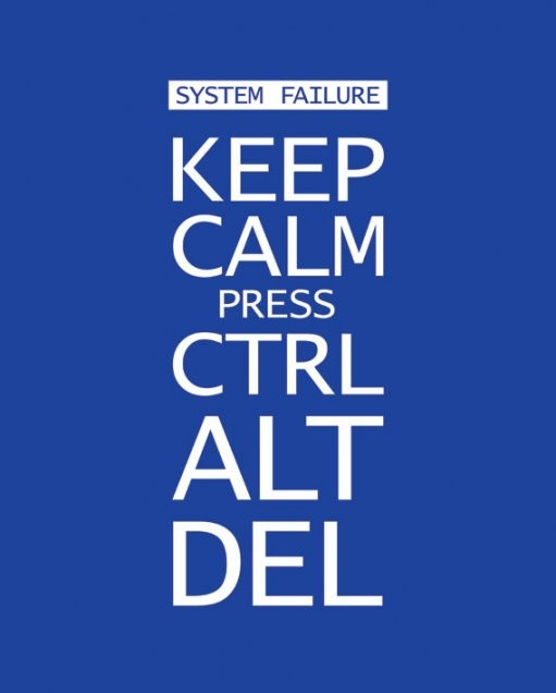 Keep calm press ctrl alt delete Poster