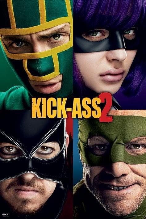 KICK ASS 2 - cast Affiche