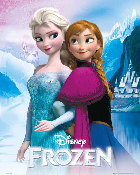 La reine des neiges - Elsa and Anna Affiche