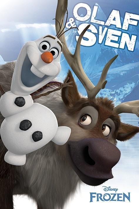La reine des neiges - Olaf and Sven Poster
