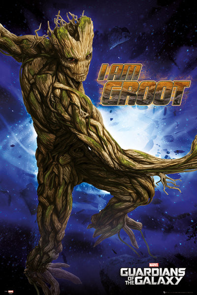 les gardiens de la galaxie groot poster affiche acheter le sur. Black Bedroom Furniture Sets. Home Design Ideas