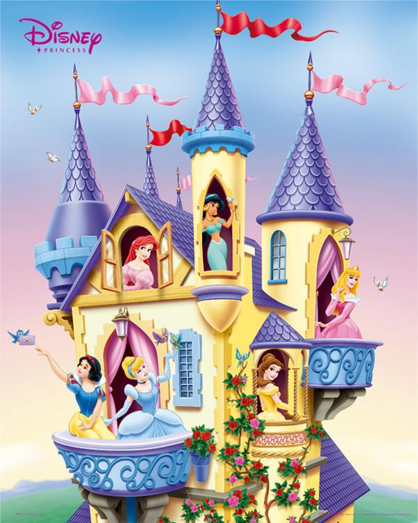 LES PRINCESSES DISNEY - castle Poster