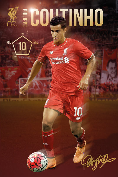 Liverpool FC - Coutinho 15/16 Affiche