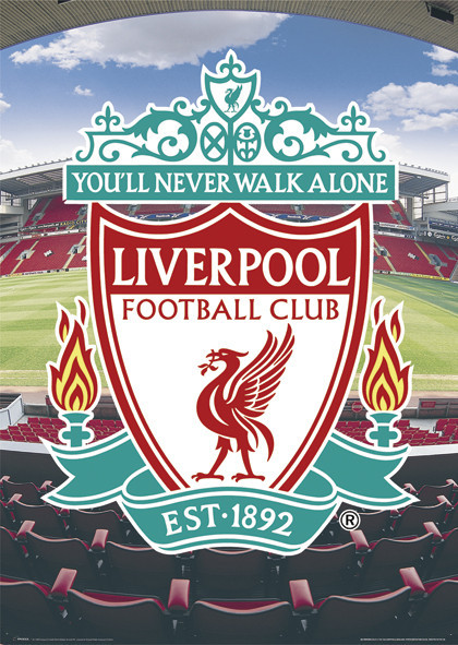 Liverpool - football crest Poster