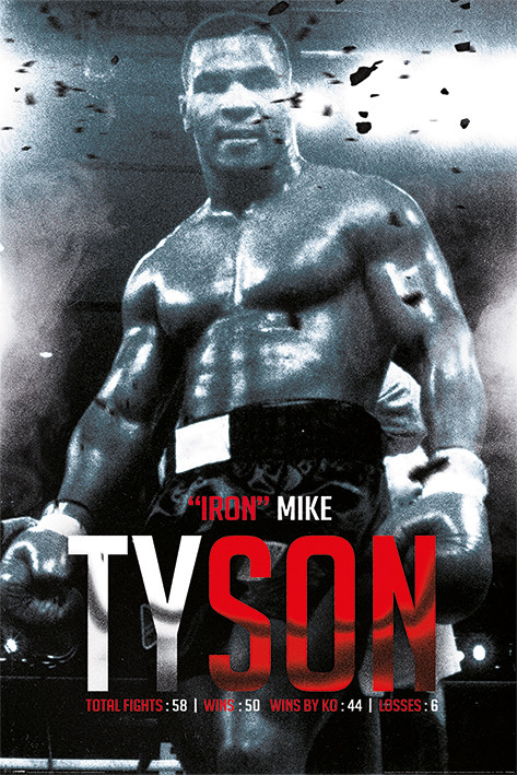 Mike Tyson - Boxing Record Poster