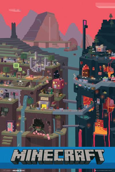 Minecraft - world Poster