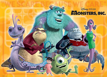 MONSTERS INC groupshot Poster