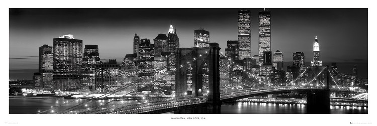New York - Manhattan black Poster
