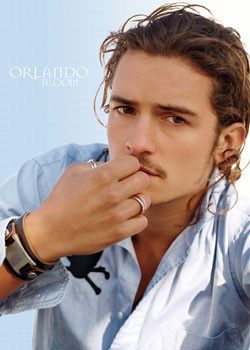 ORLANDO BLOOM - blue Poster