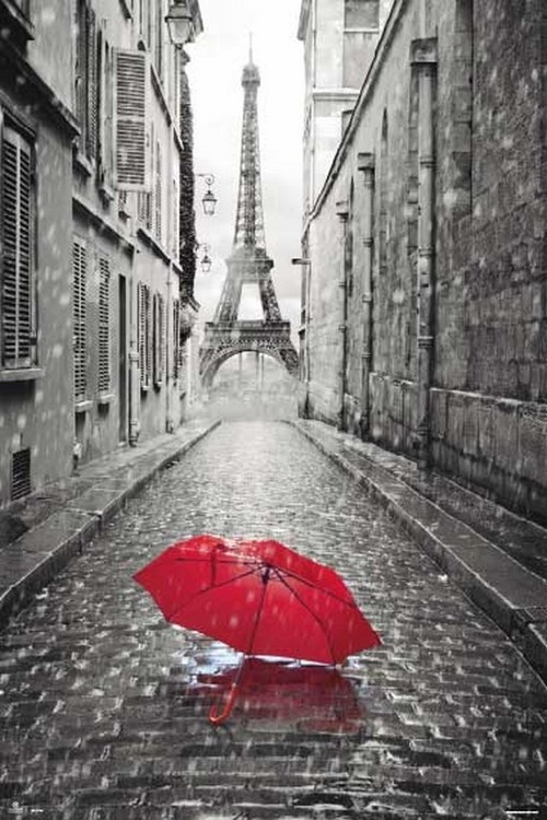 paris eiffel tower umbrella poster affiche acheter le sur. Black Bedroom Furniture Sets. Home Design Ideas