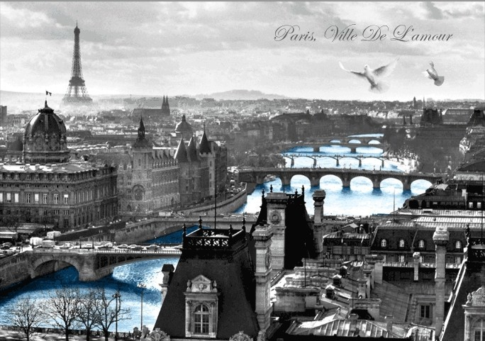 paris france poster en 3d affiche en 3d acheter le sur. Black Bedroom Furniture Sets. Home Design Ideas