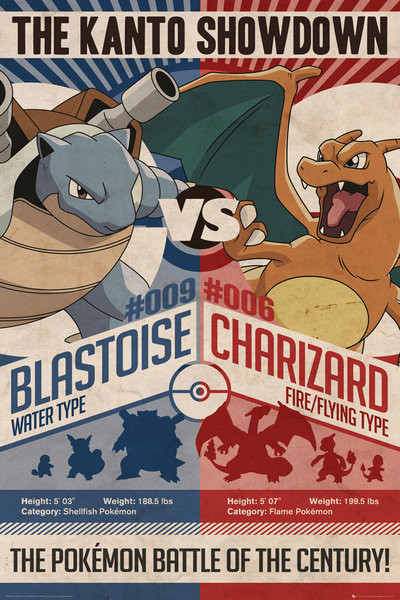 Pokémon - Red v Blue Poster