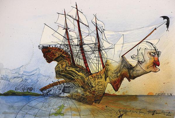 Raplh Steadman - Curse of Lono Affiche