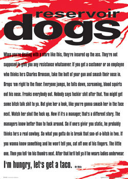 RESERVOIR DOGS - Mr. White Poster