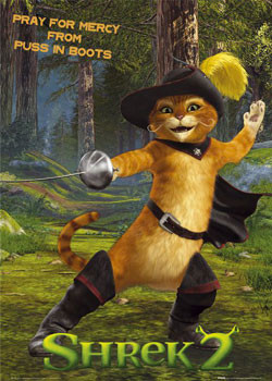 SHREK 2 - cat Poster