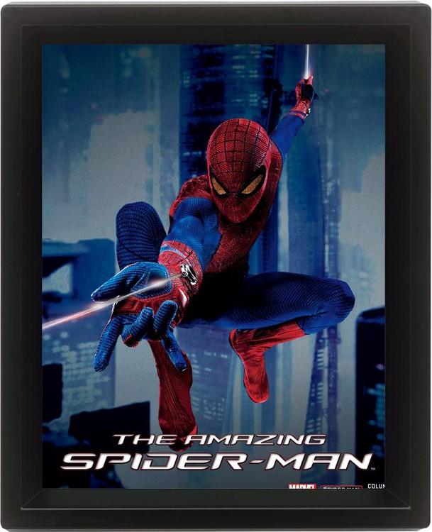 SPIDER-MAN Poster en 3D encadré