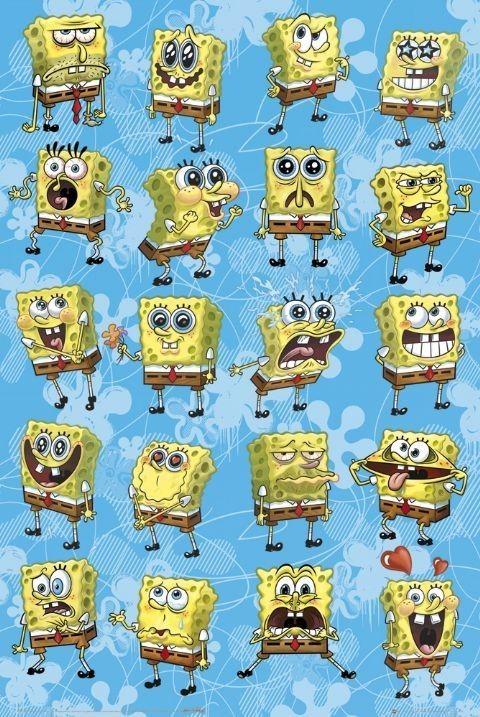 SPONGEBOB - expressions Affiche