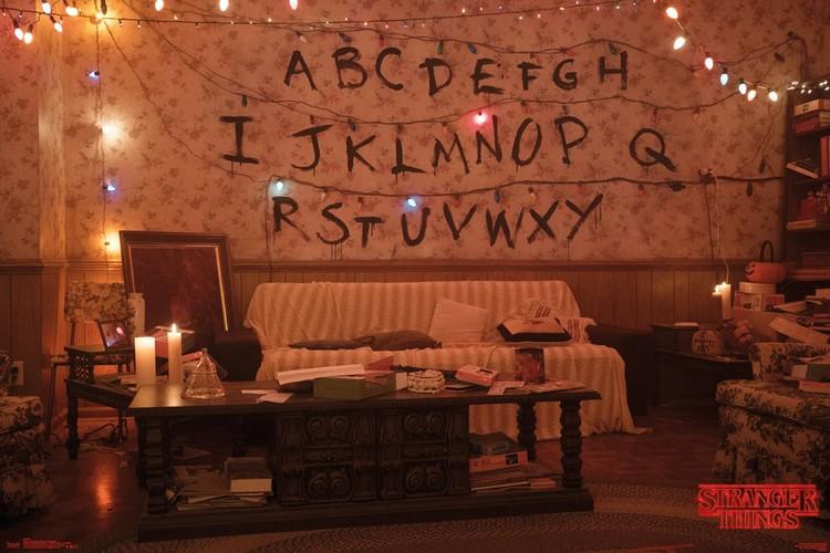 Stranger Things - Alphabet Poster